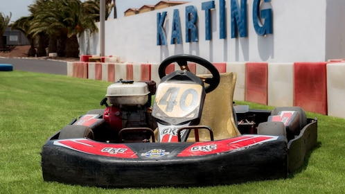 Close up of go kart at track in Lanzarote