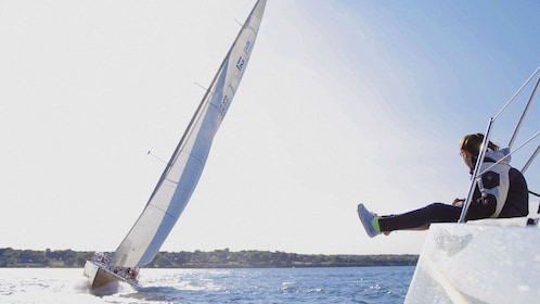 Sailboats racing in Rhode Island