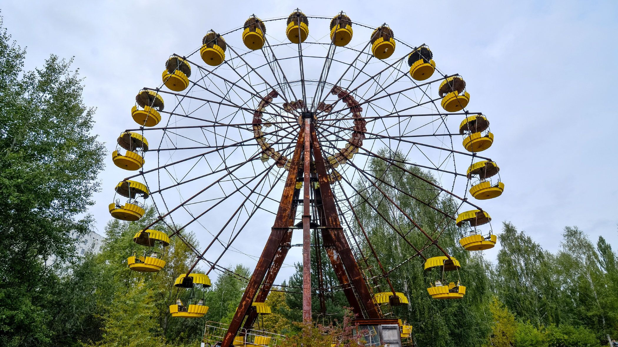 Ferris wheel at an abandoned amusement park in Pripyat
