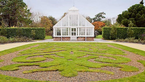 Greenhouse and garden at Malahide Castle in Dublin