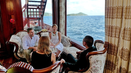 Group on a boat in Nha Trang