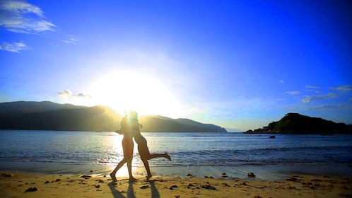 Couple on the beach in Nha Trang
