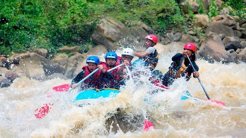 View of a group on the Padas River White Water