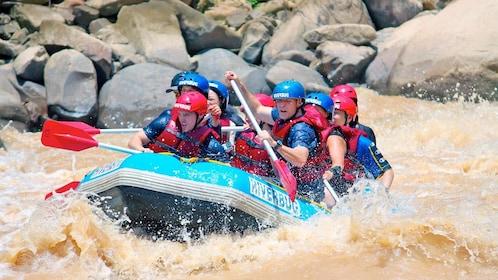 Group White Water Rafting on Padas River