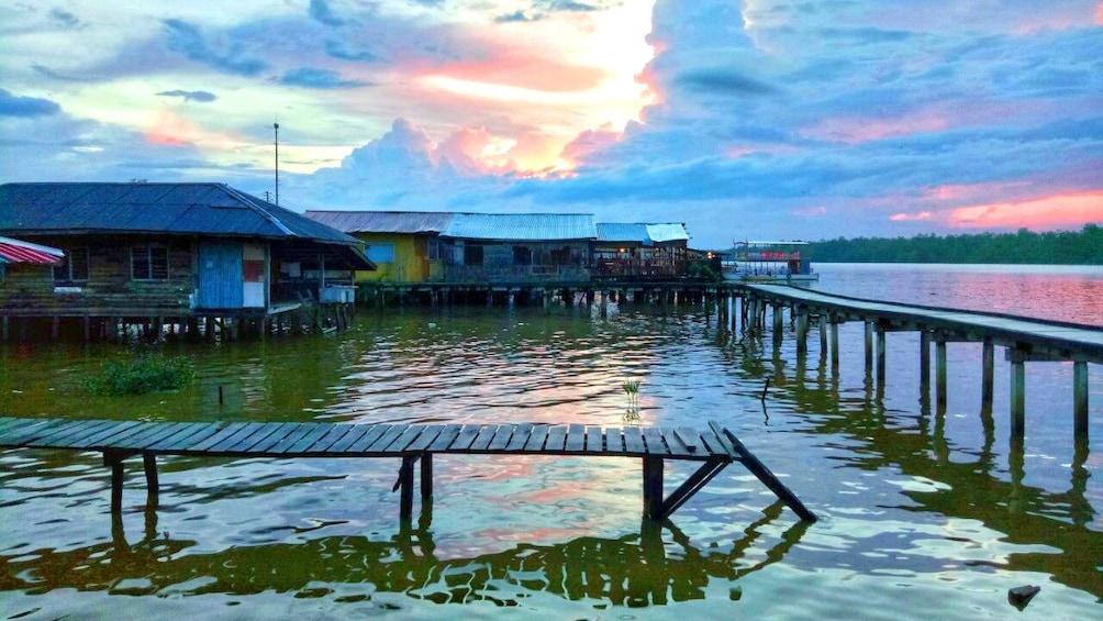 Show item 3 of 5. Docks on the waterfront of Kota Kinabalu