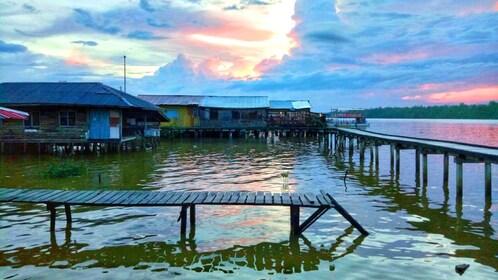 Docks on the waterfront of Kota Kinabalu