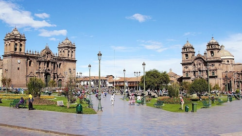 Landscape view of Cathedral Basilica of Our Lady of the Assumption, Cusco