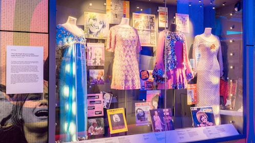 Displays at the British Music Experience in England