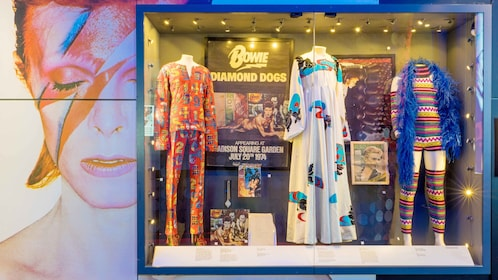 Clothing on display at the British Music Experience in England