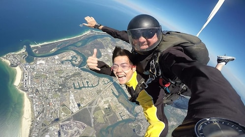 Skydiving over Gold Coast