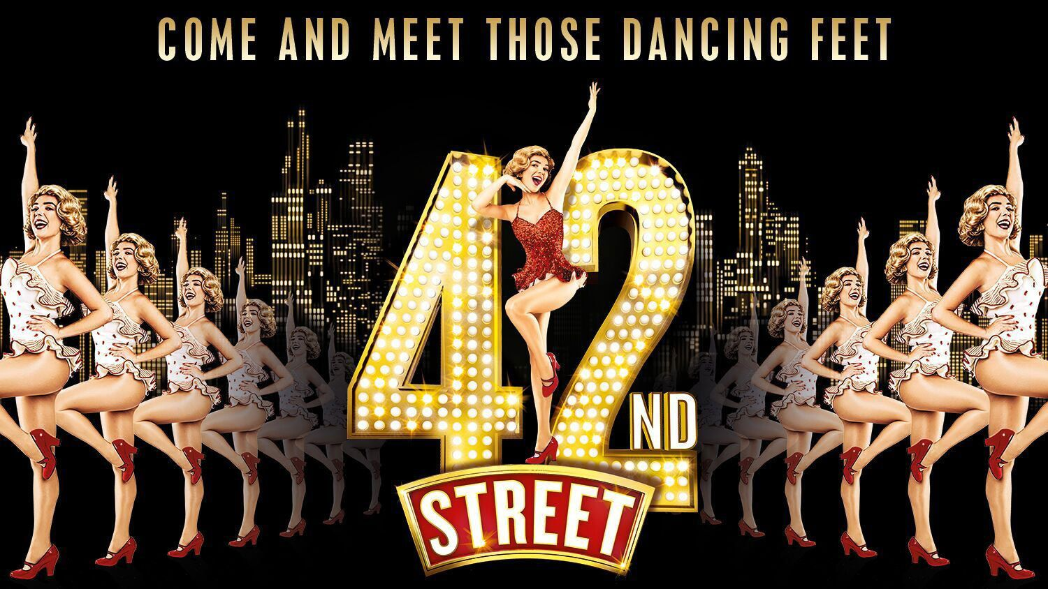 Promotional artwork for theatre show 42nd Street in London