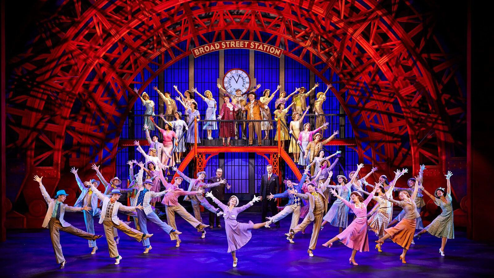 Mid scene of theatre show 42nd Street in London