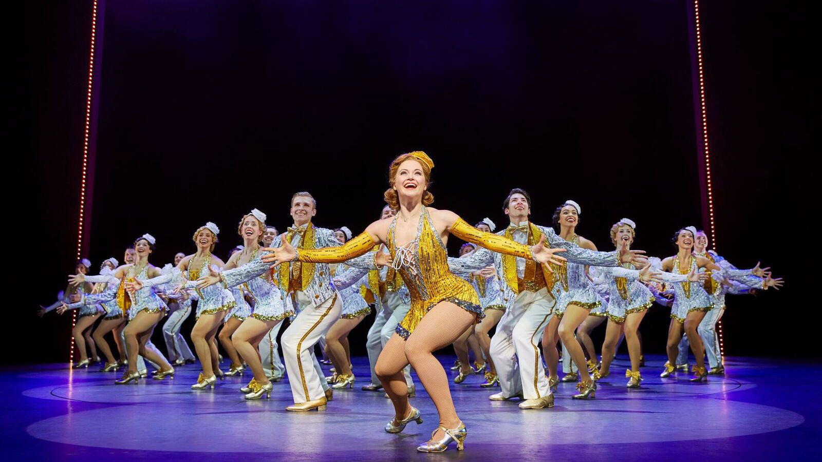 Dance number during theatre show 42nd Street in London