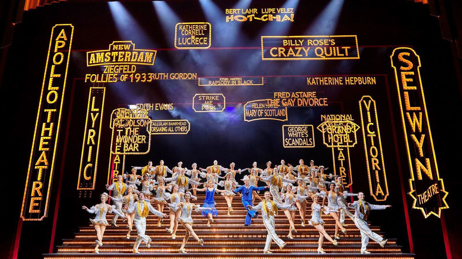 Large number during theatre show 42nd Street in London