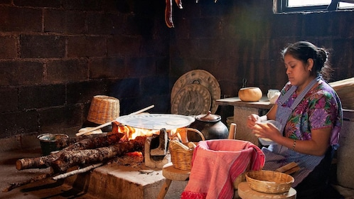 Woman making tortillas in Chiapas