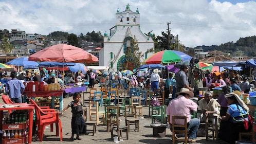 Open-air market in Chiapas