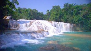 Palenque, Agua Azul & Misol-Ha Waterfall from San Cristobal