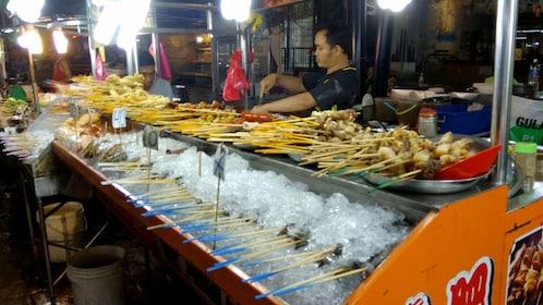 Food vendor at a market in Kuala Lumpur
