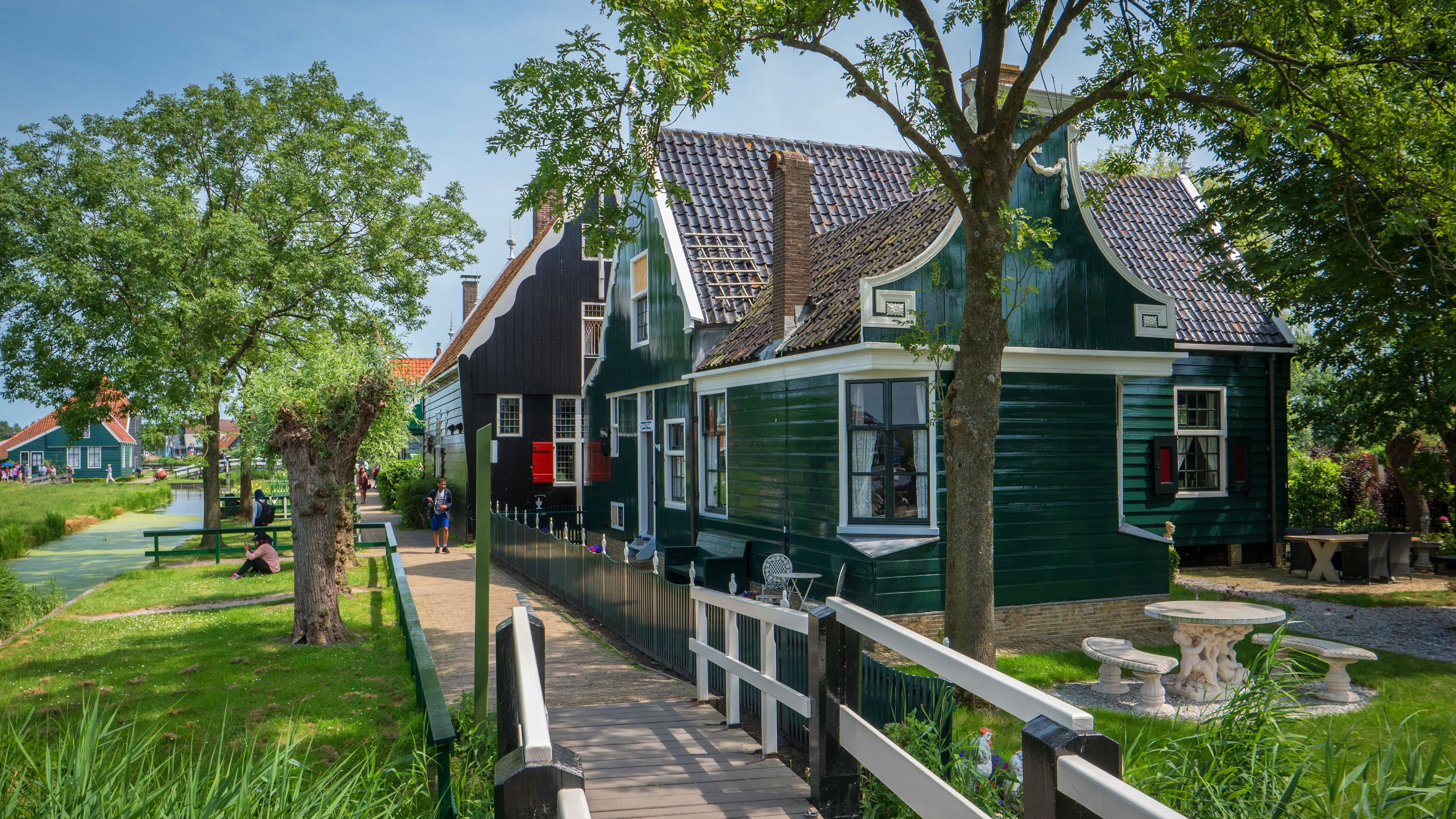 House along a plank path in the Netherlands