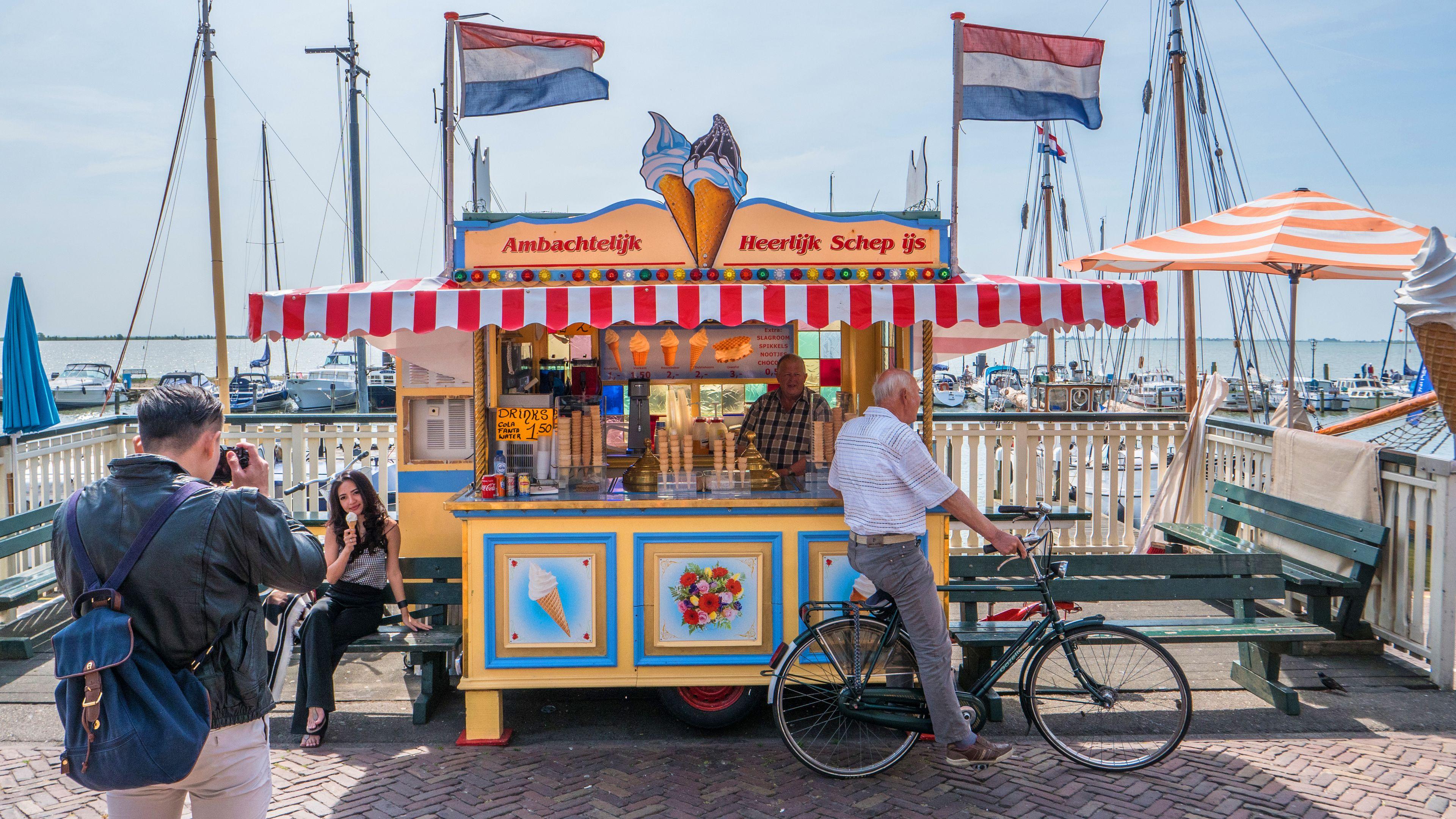 Ice Cream stand in Amsterdam