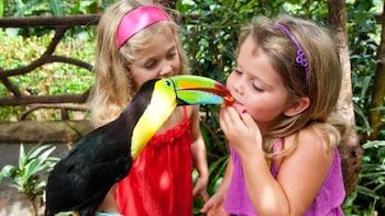 Dagspass til La Paz Waterfall Gardens og Animal Sanctuary