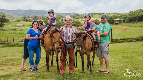 Family on the Pony Ride for Kids activity in Kahuku