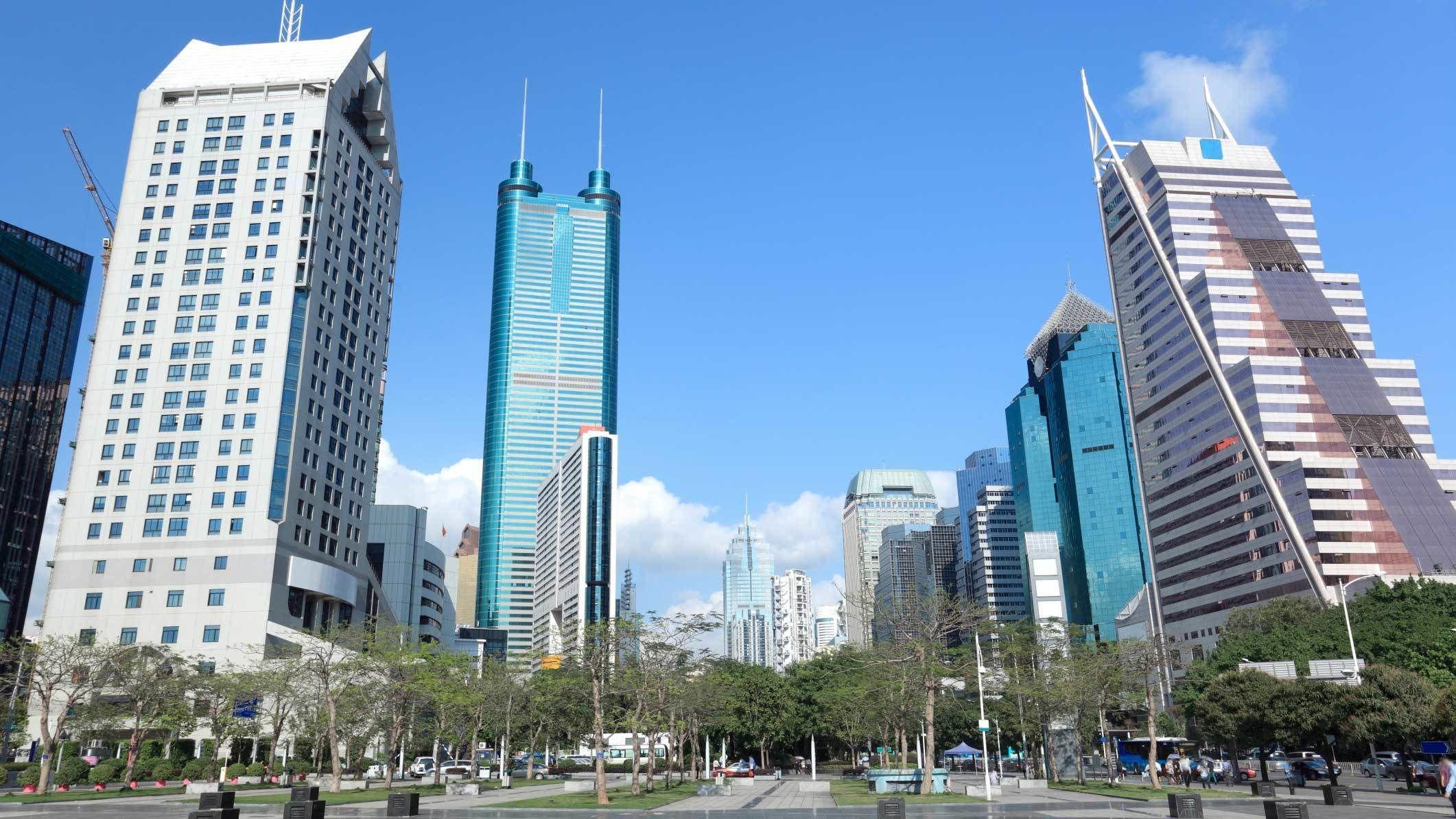 Landscape view of Shenzhen City