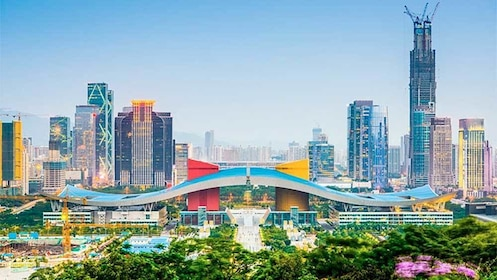 Panoramic view of Shenzhen, City in China