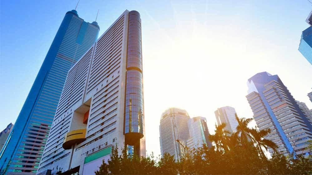 Sunset view of Shenzhen City