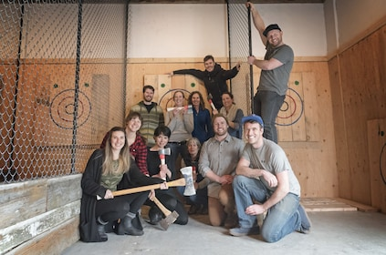 Group at the Axe Throwing Experience