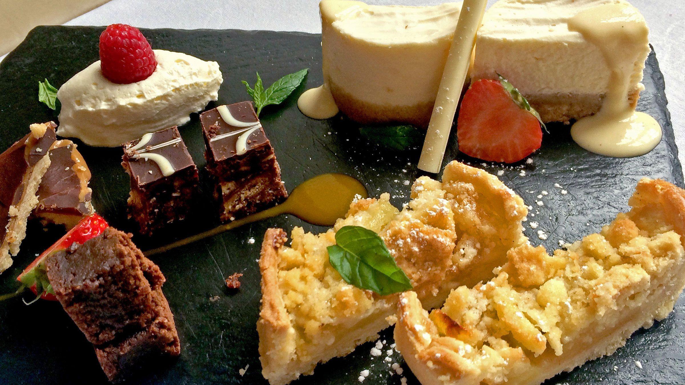 Appetizing dessert on display in Ireland