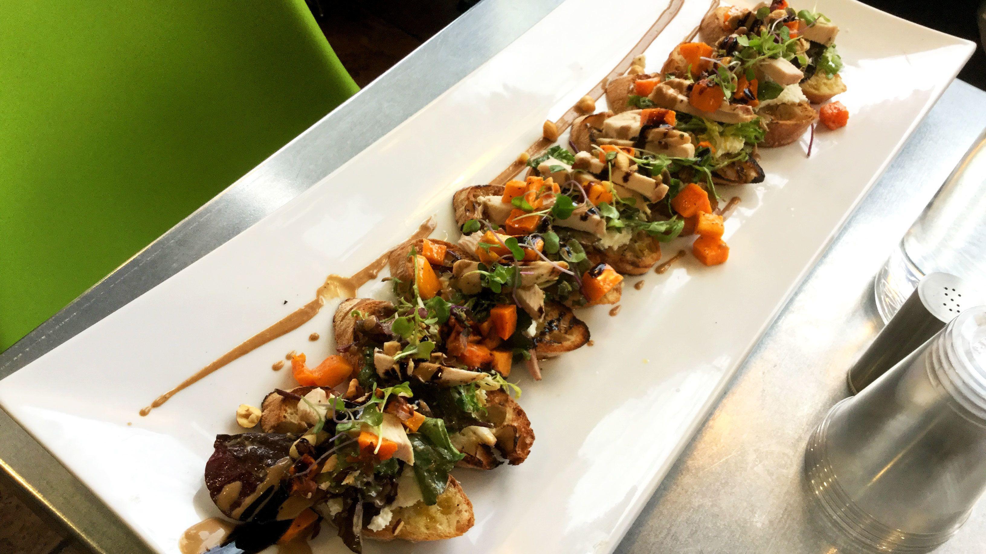 Platter of cuisine on food tour in Boise