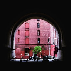 View out of tunnel in Brooklyn