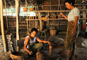 Yangon River, Rural Myanmar & Pottery Tour