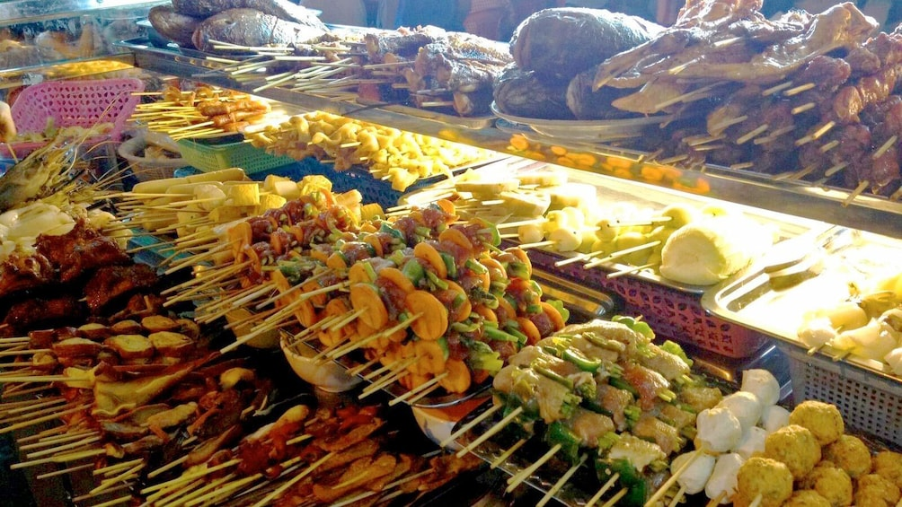 Show item 3 of 5. A variety of food on the  Burmese Market Tour