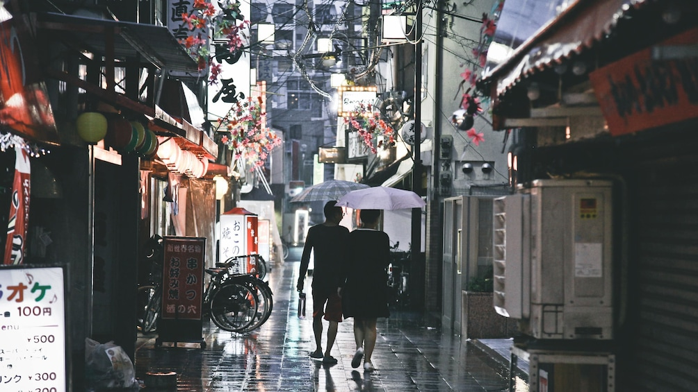 Show item 2 of 5. Rainy streets on the Kansai Soul Tour in Osaka
