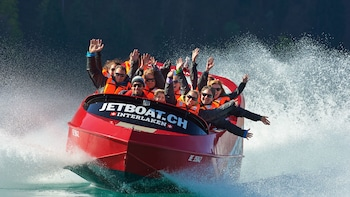 Guided Jet Boat Ride to Giessbach Falls