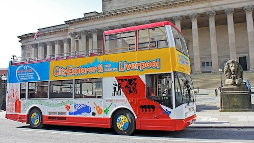 Day view of the Liverpool Open-Top HOHO Bus Tour