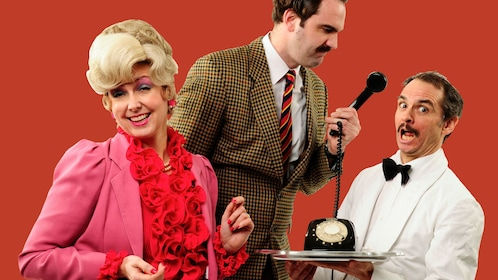 Cast image of Faulty Towers show in London