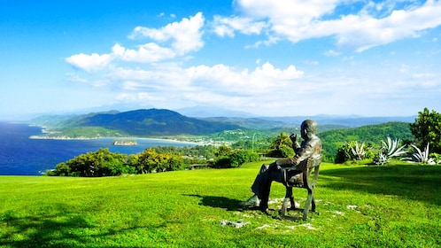 Statue of Sir Noël Coward at the Firefly House in Kingston Jamaica