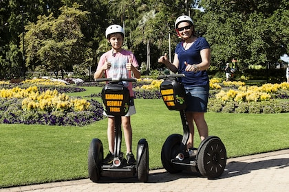 Mother and son enjoying the Brisbanes segway tour