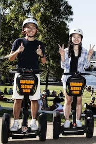 Tourists on the Brisbanes segway tour