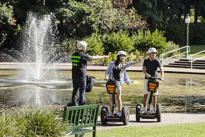 Guide and group enjoying the Brisbanes segway tour