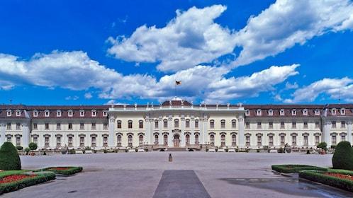 Street view of Ludwigsburg Palace in Frankfurt