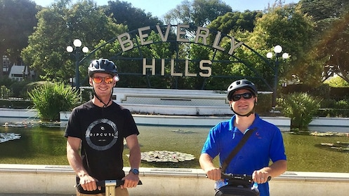 Two guys on segways in Beverly Hills