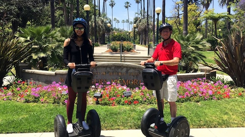 People on segway tour of Beverly Hills