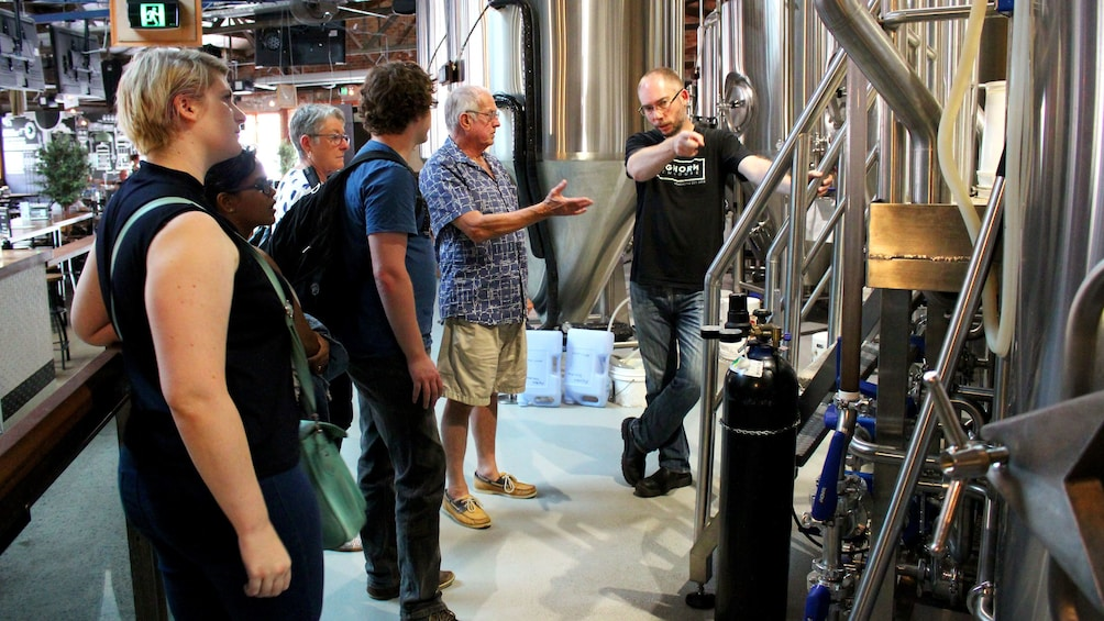 Group on tour of brewery in Sydney