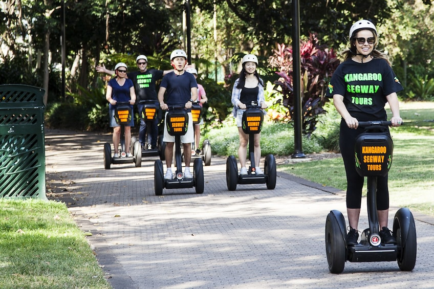 Show item 5 of 5. Group on the Segway Sightseeing Adventure Tour of Brisbane