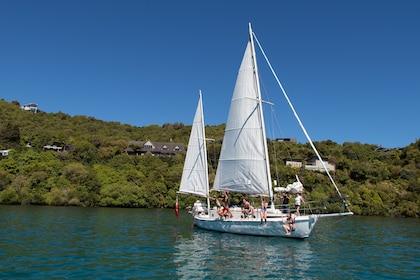 A sailboat off the coast of Taupo