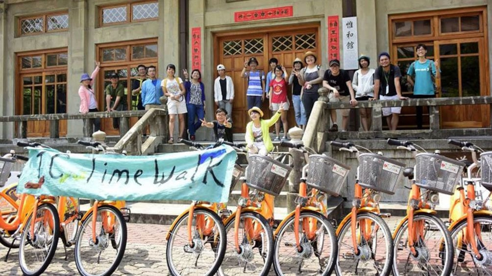 Show item 1 of 5. Group with bikes in Taichung
